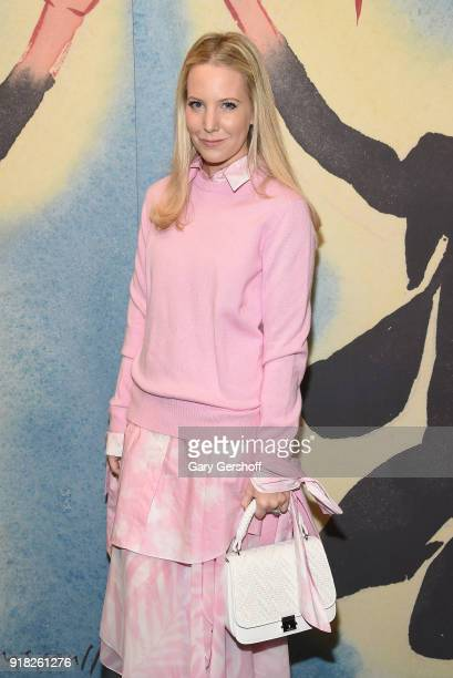 Alice NaylorLeyland attends the Michael Kors fashion show during New York Fashion Week at Vivian Beaumont Theatre on February 14 2018 in New York City