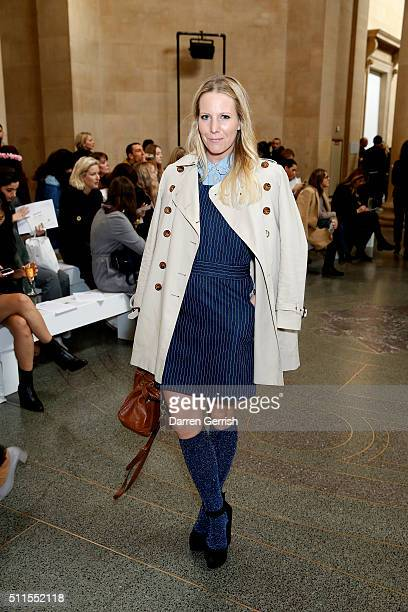 Alice NaylorLeyland attends Topshop Unique LFW AW16 runway show at Tate Britain on February 21 2016 in London England