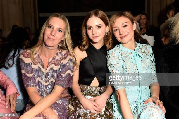 Alice Nayor Leyland Emilia Jones and Juliet Rylance attend the Temperley London FW 17 Fashion Show on February 19 2017 in London England