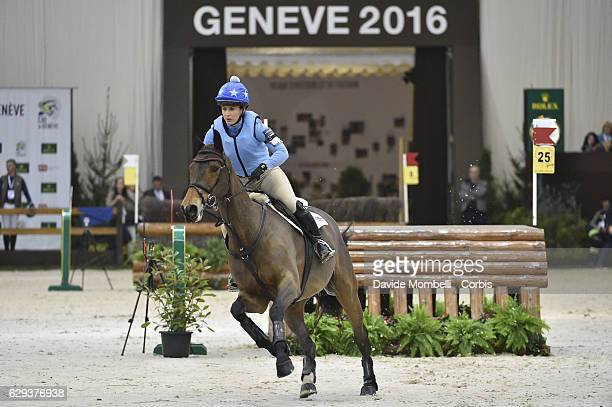 Alice of Great Britain riding Sambo during indoor Cross Country Competition eventing Rolex Grand Slam 56th EDITION CHI Geneve PALEXPO GENEVA Photo by...