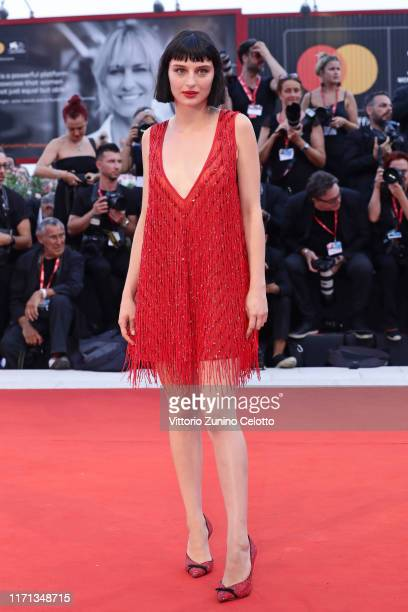 Alice Pagani walks the red carpet ahead of the Joker screening during the 76th Venice Film Festival at Sala Grande on August 31 2019 in Venice Italy