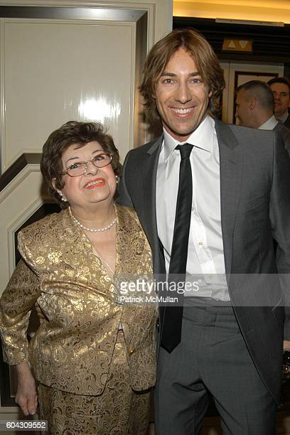 Alice Papazian and Roberto Faraone Mennella attend BERGDORF GOODMAN and The Italian Trade Commission host a dinner with the Young Friends of Save...