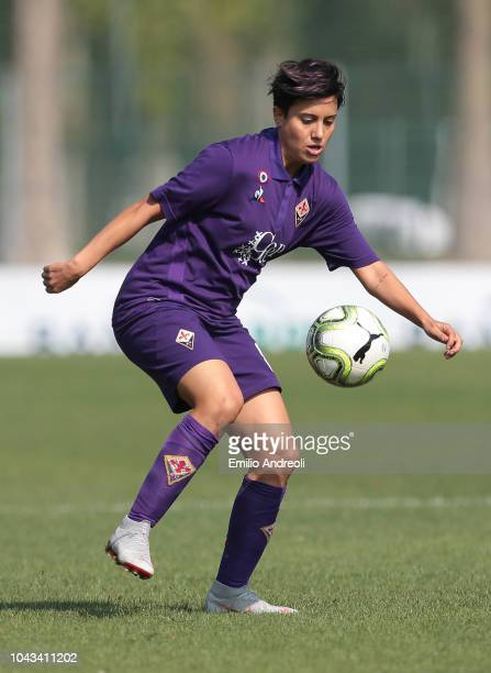 Alice Parisi of Fiorentina Women's FC in action during the Serie A match between AC Milan Women and Fiorentina Women at Campo Sportivo Vismara on...