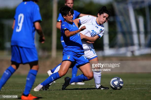 Alice Parisi of Italy Womens in action against Marta Mascarello of Italy U23 during the match between Italy Women and Italy U23 Women at Centro...