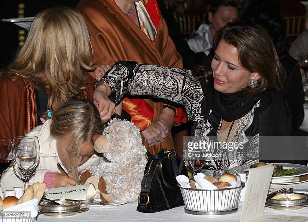 Alice Pavarotti and Princess Haya Bint alHussein of Jordan attend a Memorial service to celebrate the life of the opera singer Luciano Pavarotti as...