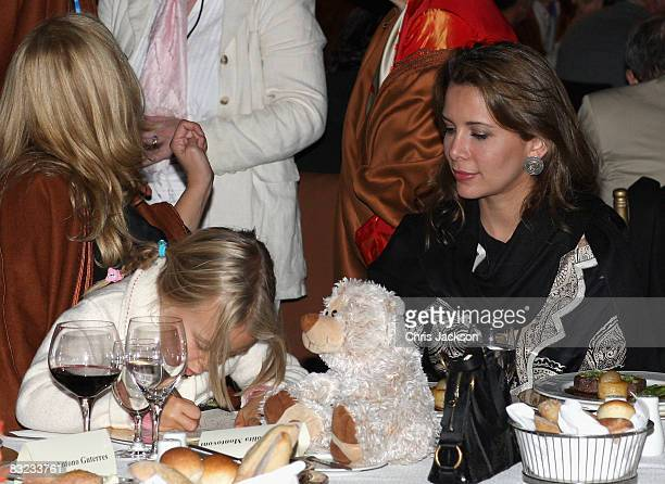 Alice Pavarotti and Princess Haya Bint al-Hussein of Jordan attend a Memorial service to celebrate the life of the opera singer Luciano Pavarotti as...