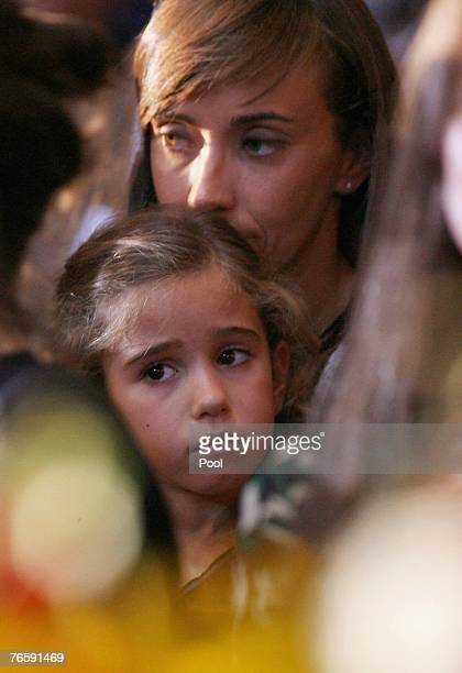 Alice Pavarotti attends Luciano Pavarotti's funeral held in Modena's Duomo on September 8, 2007 in Modena, Italy. Pavarotti died of pancreatic cancer...