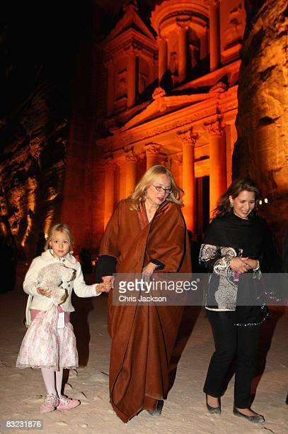 Alice Pavarotti, Nicoletta Pavarotti and Princess Haya Bint al-Hussein of Jordan attend a Memorial service to celebrate the life of the opera singer...