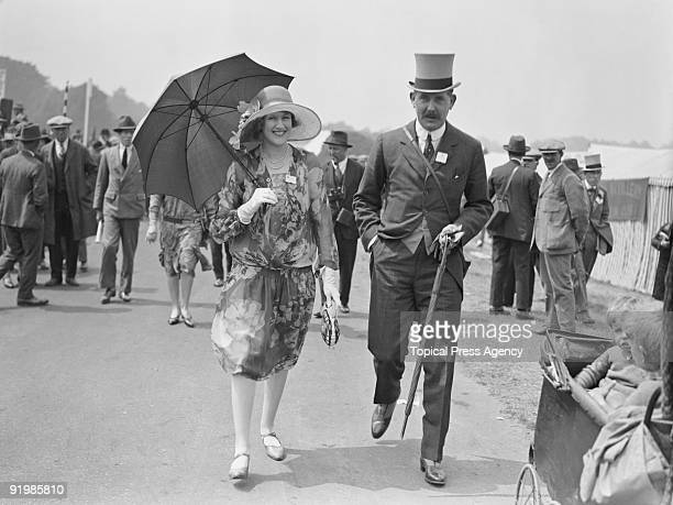 Alice Pearl Lady Montagu of Beaulieu at Ascot races with Major Egerton 15th June 1927