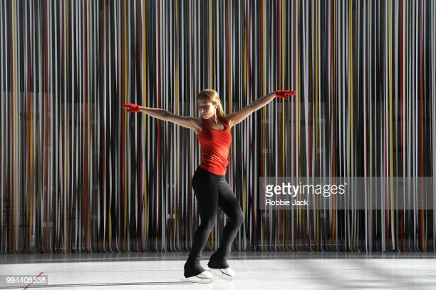 Alice Poggio as Nuria in David Sawer's The Skating Rink directed by Stewart Laing and conducted by Garry Walker at Garsington Opera at Wormsley on...