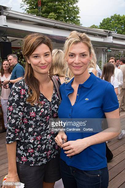 Alice Pol and Judith El Zein attend the Roland Garros French Tennis Open 2014