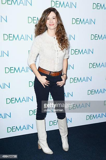 Alice Pol attends 'Demain' Paris Premiere at Cinema UGC Normandie on December 1 2015 in Paris France
