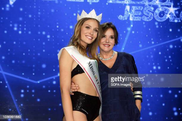 ARREX JESOLO VENEZIA ITALY Alice Rachele Arlanch Miss Italy 2017 seen with Patrizia Mirigliani after nominations Rachele Arlanch has named Miss...