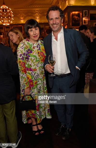 Alice Rawsthorn and Franois Chantala attend Ruinart reception to launch Frieze Sculpture 2017 in Regent's Park and VIP dinner at Berners Tavern on...