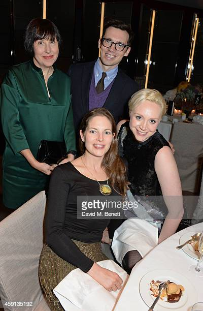 Alice Rawsthorn Erdem Moralioglu Amy Gilliam and Gwendoline Christie attend the Liberatum Cultural Honour for Francis Ford Coppola at The Bulgari...