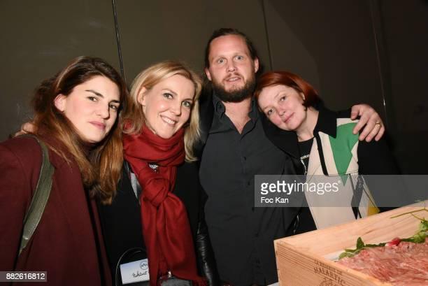 Alice Ricard Garance Primat Guilhem de Castelbajac and Irina Rasquinet attend Nektart Wine Party at Palais de Tokyo Art Club on November 29 2017 in...