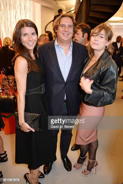 Alice Rivier, Anton Rupert Jr and Tellisa Clarke attend the opening of Maison Alaia on New Bond Street on April 26, 2018 in London, England.