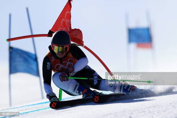 Alice Robinson of New Zealand competes during the Ladies' Giant Slalom on day six of the PyeongChang 2018 Winter Olympic Games at Yongpyong Alpine...