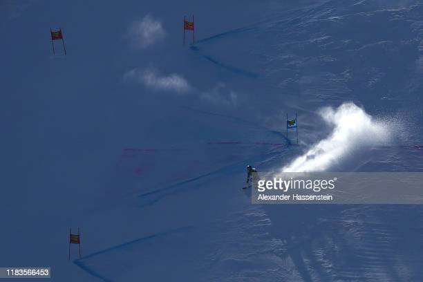 Alice Robinson of New Zealand competes in the 2nd run of the Audi FIS Alpine Ski World Cup - Women's Giant Slalom at Rettenbachferner on October 26,...