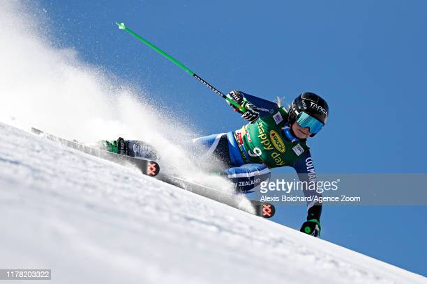 Alice Robinson of New Zealand in action during the Audi FIS Alpine Ski World Cup Women's Giant Slalom on October 26 2019 in Soelden Austria