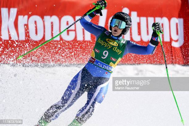 Alice Robinson of New Zealand in the second run of the Audi FIS Alpine Ski World Cup Women's Giant Slalom at Rettenbachferner on October 26 2019 in...