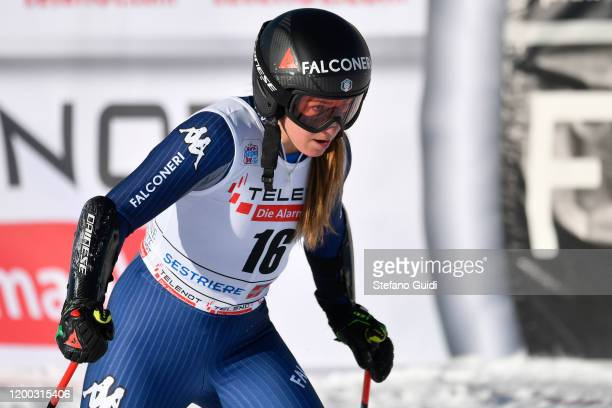 Alice Robinson of New Zealand Ski Team during of the Audi FIS Alpine Ski World Cup - Women's Giant Slalom on January 18, 2020 in Sestriere, Italy.