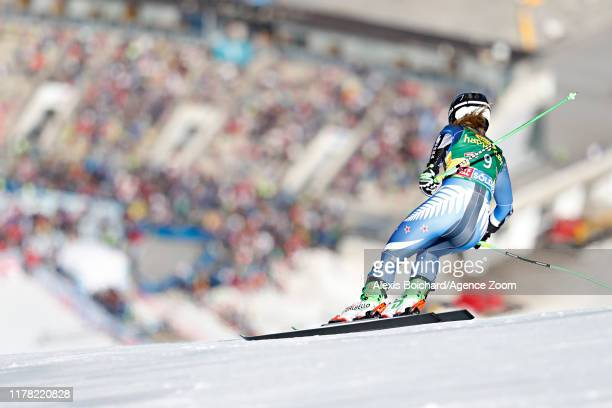 Alice Robinson of New Zealand takes 1st place during the Audi FIS Alpine Ski World Cup Women's Giant Slalom on October 26, 2019 in Soelden, Austria.