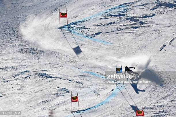Alice Robinson of New Zealand takes 1st place during the Audi FIS Alpine Ski World Cup Women's Giant Slalom on October 26 2019 in Soelden Austria