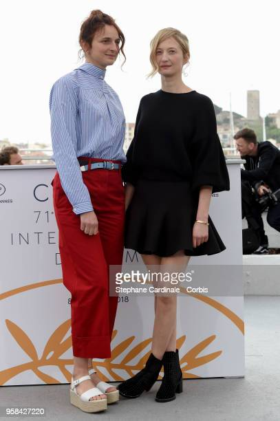 Alice Rohrwacher and Alba Rohrwacher attend the 'Happy As Lazzaro ' Photocall during the 71st annual Cannes Film Festival at Palais des Festivals on...