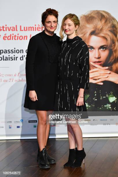 Alice Rohrwacher and Alba Rohrwacher attend the Prix Lumiere 2018 ceremony At the 10th Film Festival Lumiere on October 19 2018 in Lyon France