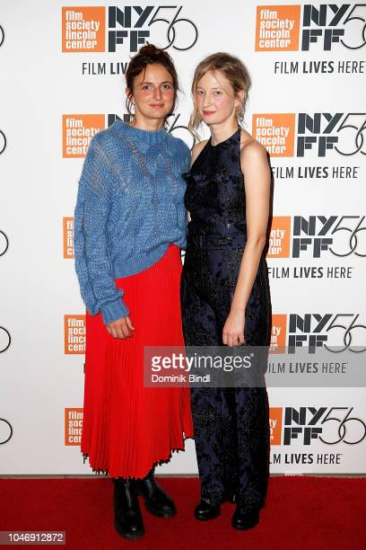 Alice Rohrwacher and Alba Rohrwacher during the 56th New York Film Festival Happy As Lazzaro at Alice Tully Hall Lincoln Center on October 6 2018 in...