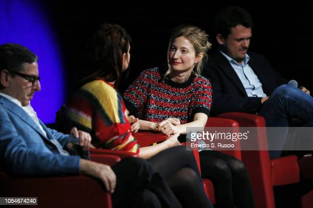 Alice Rohrwacher and Alba Rohrwacher meets the audience during the 13th Rome Film Fest at Auditorium Parco Della Musica on October 28 2018 in Rome...