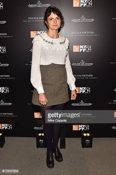 Alice Rohrwacher attends the JLC Hauser Cocktails event during the 54th New York Film Festival at Hauser Patron Salon at Alice Tully Hall on October...