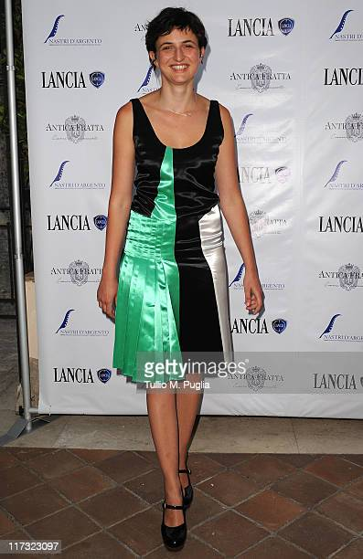 Alice Rohrwacher attends the Lancia Cafe 2011 Nastri d'Argento Awards Cocktail Party on June 25 2011 in Taormina Italy