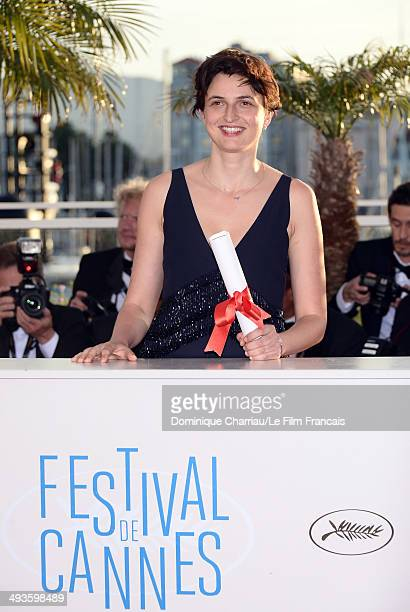 Alice Rohrwacher attends the 'Palme D'Or Winners Photocall' at the 67th Annual Cannes Film Festival on May 24 2014 in Cannes France