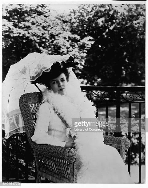 Alice Roosevelt Longworth Holding Parasol