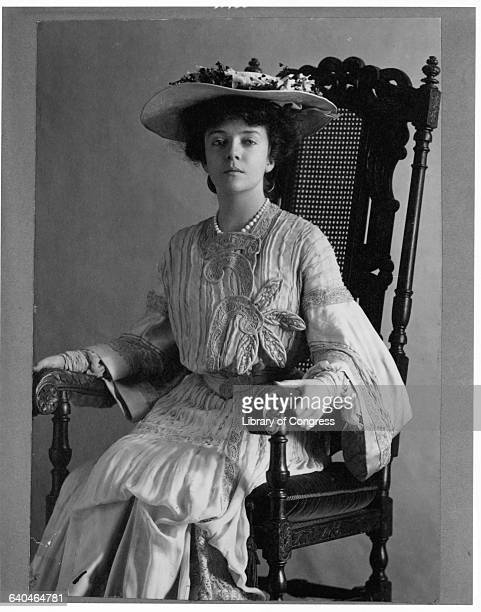 Alice Roosevelt Longworth Sitting in Armchair