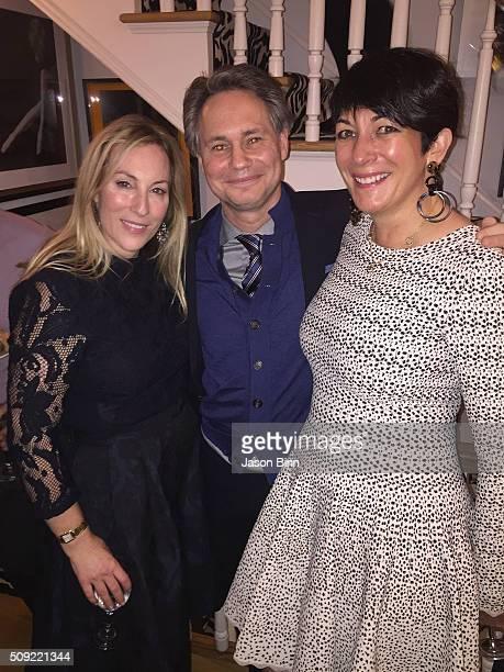 Alice Ryan Jason Binn and Ghislaine Maxwell circa December 2015 in New York City