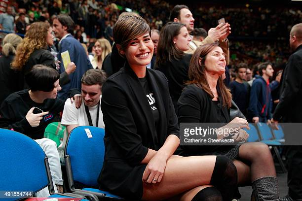 Alice Sabatini attends the game between the Boston Celtics and Emporio Armani Milano as part of the 2015 Global Games on October 6 2015 at the...