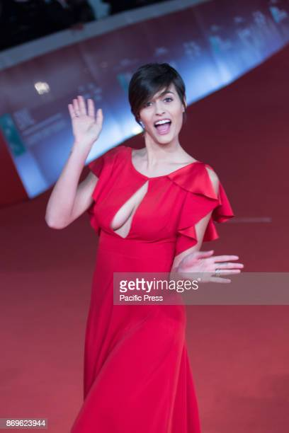 Alice Sabatini Italian model and winner of the 76th edition of the beauty contest Miss Italia 2015 at the Rome Film Festival in Auditorium Parco...