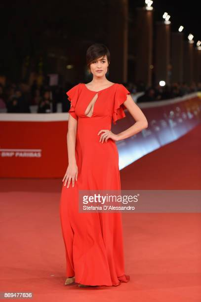 Alice Sabatini walks a red carpet for 'Trouble No More' during the 12th Rome Film Fest at Auditorium Parco Della Musica on November 2 2017 in Rome...