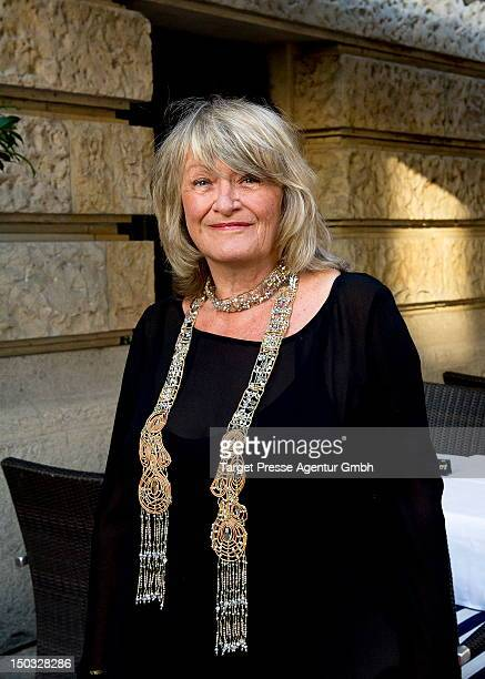 Alice Schwarzer attends the celebration of the 70th birthday of Friede Springer at the restaurant 'Gendarmarie' on August 15 2012 in Berlin Germany