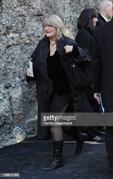 Alice Schwarzer attends the memorial service for Bernd Eichinger at the St Michael Kirche on February 07 2011 in Munich Germany Producer Bernd...