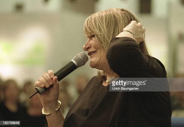 Alice SCHWARZER journalist publisher and feminist during the Frankfurter Buchmesse
