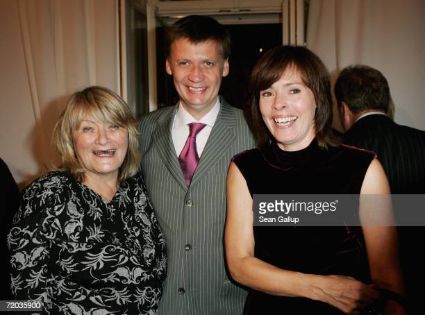 Alice Schwarzer television host Guenther Jauch with his wife Thea Jauch attend the Bertelsmann annual party September 28 2006 in Berlin Germany