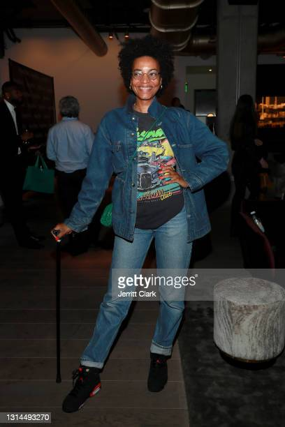 Alice Smith attends Spring Place's Oscars party honoring Andra Day and the cast of The United States vs. Billie Holiday on April 26, 2021 in Beverly...