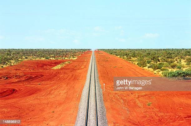 alice springs to darwin railway line. - darwin australia stock pictures, royalty-free photos & images
