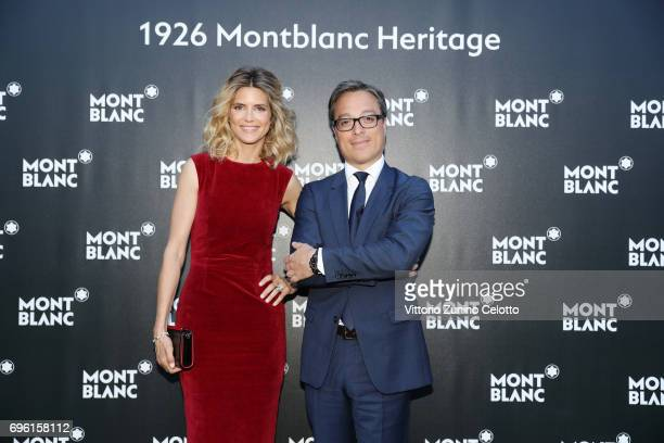 Alice Taglioni and CEO Montblanc International Nicolas Baretzki attend '1926 Montblanc Heritage Launch event' on June 14 2017 in Florence Italy