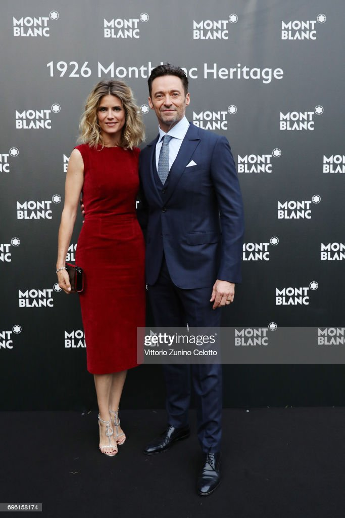 Alice Taglioni and Hugh Jackman attend the '1926 Montblanc Heritage Launch event' on June 14, 2017 in Florence, Italy.