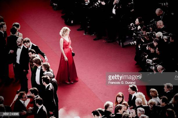Alice Taglioni attends the 'Blood Ties' Premiere during the 66th Annual Cannes Film Festival at the Palais des Festivals on May 20 2013 in Cannes...